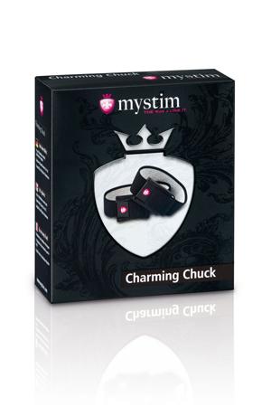 Кольца на пенис и мошонку с электростимуляцией Charming Chuck черные