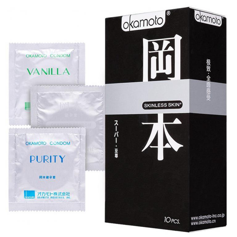 Презервативы Okamoto Skinless Skin Super / Супер № 10