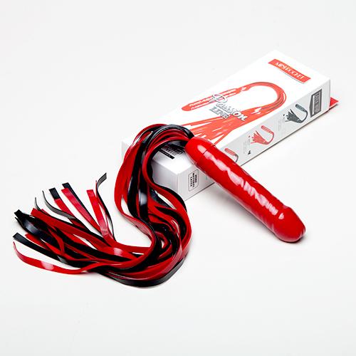 Плеть мини Ракета цвет: черный/красный
