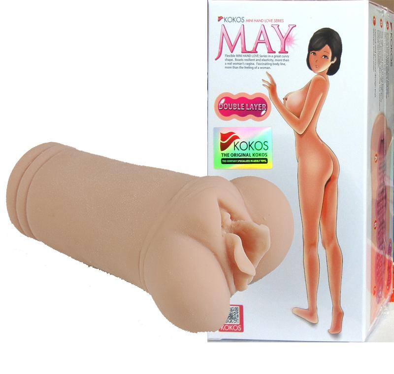 May, мастурбатор вагина без вибрации с двойным слоем материала