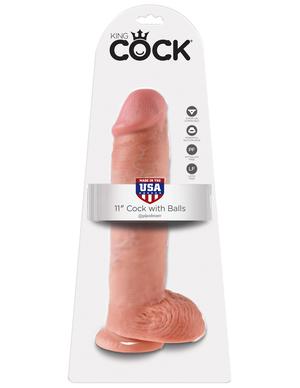 Фаллоимитатор на присоске Телесный King Cock