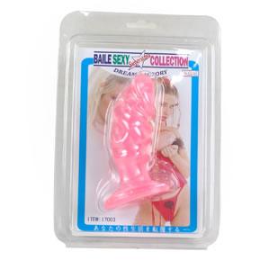 Анальная пробка-фаллос розовый