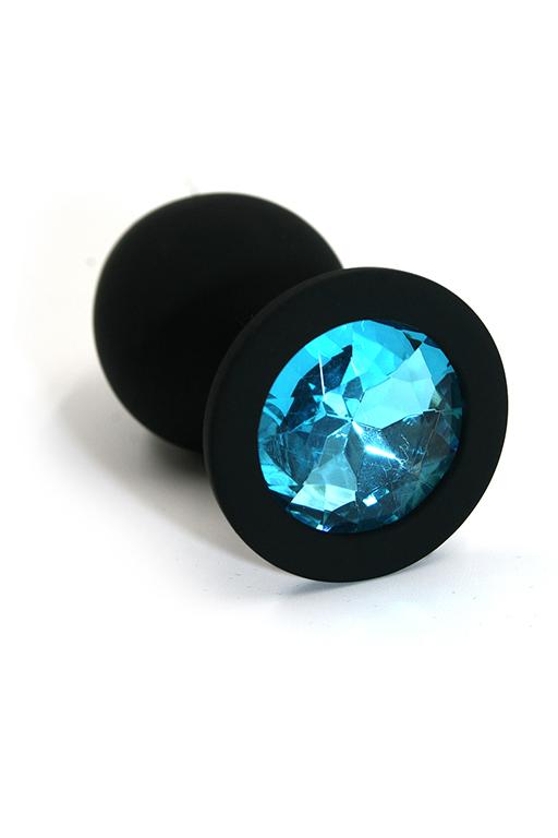 Анальная пробка из силикона ight blue