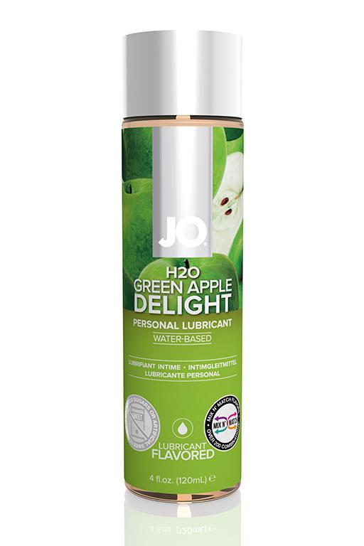 Ароматизированный лубрикант Яблоко на водной основе JO Flavored  Green Apple H2O 160 мл.