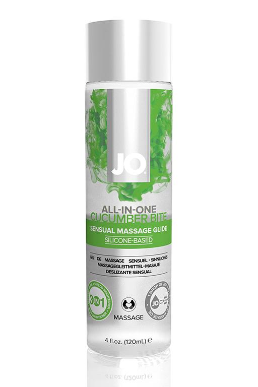 Массажный гель-лубрикант на силиконовой основе ALL-IN-ONE Massage Glide Cucumber с ароматом огурца 1