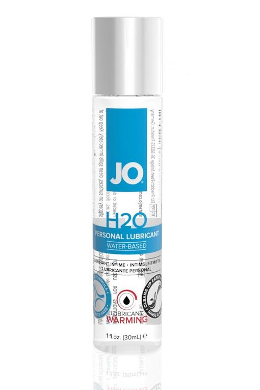 Классический возбуждающий лубрикант на водной основе JO H2O Warming, 1 oz (30мл.)
