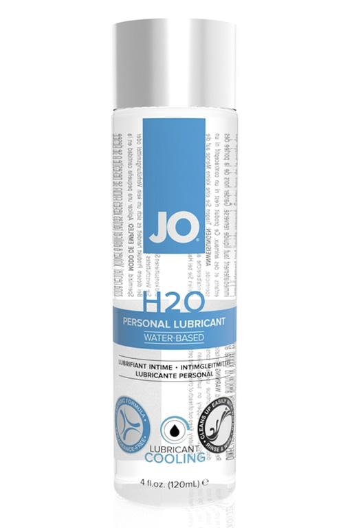 Классический охлаждающий лубрикант на водной основе JO H2O COOL, 4 oz (120мл.)