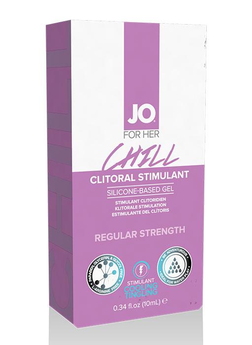Стимулирующий гель для клитора  охлаждающий JO CHILL, 10 мл
